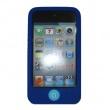Funda Silicona Ipod Touch 4 Azul Con Botón