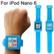 Soporte Muñeca Silicona Ipod Nano 6 Azul