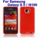 Funda Silicona Gel Samsung Galaxy S2 i9100 Rojo