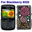 Carcasa trasera Blackberry 8520 Mariposa Diamantes incrustados