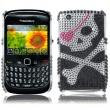 Carcasa trasera Blackberry 8520 Flor Diamantes incrustados