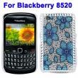 Carcasa trasera Blackberry 8520 Estrella Diamantes incrustados