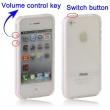Bumper / Marco Antigolpes Botones Iphone 4 / 4S Transparente