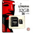 Tarjeta MicroSD Kingston de 32GB