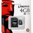 Tarjeta MicroSD Kingston de 4GB