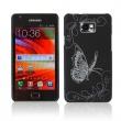 Carcasa trasera Negra Samsung Galaxy S2 i9100 Mariposa