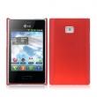 Funda Gel Silicona LG L3 Roja