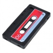 Funda Silicona Ipod Touch 4 Cassette Negra
