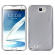 Funda TPU Samsung Galaxy Note II N7100 Gris Brillo y Mate