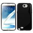 Funda TPU Samsung Galaxy Note II N7100 Negra Brillo y Mate