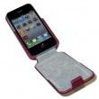 Funda Solapa iPhone 4 Rosa Oscuro