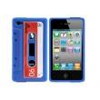 Funda Silicona Iphone 4 Cassette Azul
